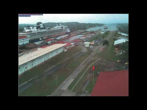 Cruise ship through Panama Canal