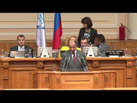  كلمة رئيس مجلس النواب الدكتور سليم الجبوري خلال افتتاح اعمال الامانة العامة لاتحاد البرلمان الدولي في روسيا