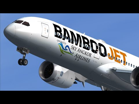 [FSX] Bamboo Airways Sky Angkor Airlines In Europe Frankfurt/Germany.FRA/EDDF/RWY 25C.