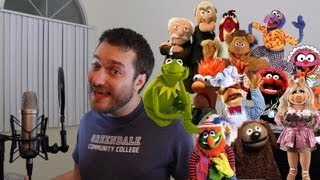 Perfectly Impersonating 12 Muppets in One Minute