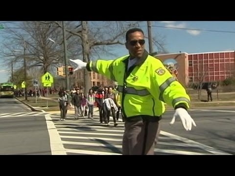 Basketball star Adrian Dantley now works as a school crossing guard in Maryland