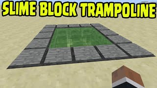 Minecraft PS3, PS4, Xbox, Wii U - SLIME BLOCK TRAMPOLINE (Title Update 31 /1.8)