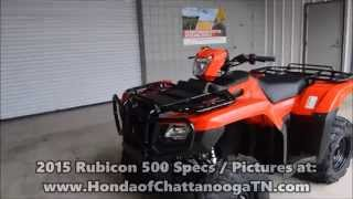 10. 2015 Rubicon 500 EPS For Sale / TN GA AL area - TRX500FM6F Power Steering ATV
