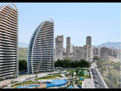 Luxury apartments with sea views in Benidorm Premium Class. New buildings at the Costa Blanca