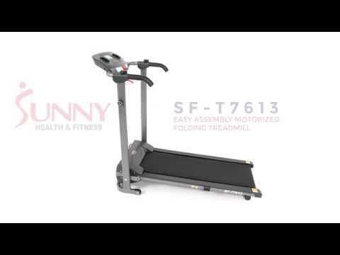 Sunny Health & Fitness SF T7613 Easy Assembly Motorized Folding Treadmill