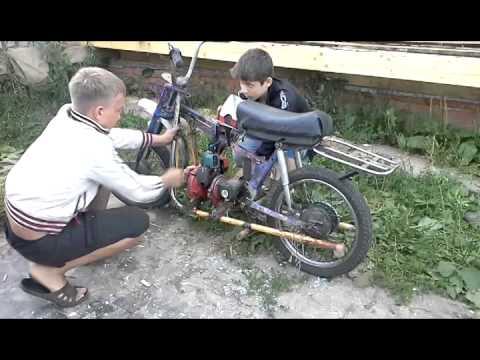Как из бензопилы сделать мопед видео