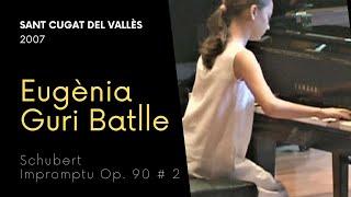 Eugènia Guri Batlle plays Schubert impromptu op.90 nº 2