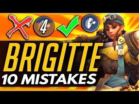 Overwatch | 10 BIGGEST MISTAKES BRIGITTE PLAYERS MAKE!