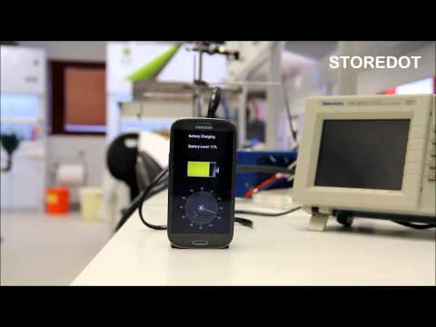 Battery - StoreDot 30S Smartphone charging demo.