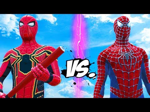 SPIDERMAN VS IRON SPIDER - EPIC SUPERHEROES BATTLE