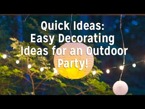 Easy Decorating Ideas for an Outdoor Party!