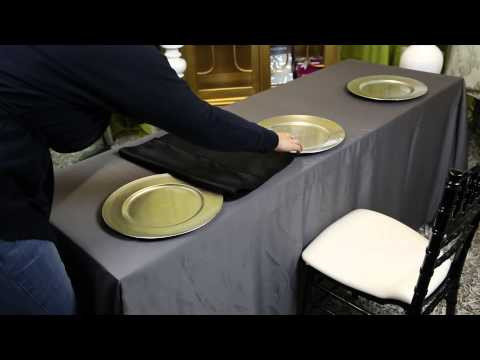 How to Decorate Long Folding Tables for a Banquet : Wedding Decor