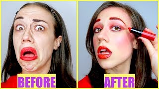 Video FULL FACE USING ONLY MIRANDA'S LIPSTICK! MP3, 3GP, MP4, WEBM, AVI, FLV November 2017