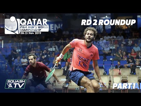 Squash: PSA Men's World Champs 2019-20 - Rd 2 Roundup [Pt.1]