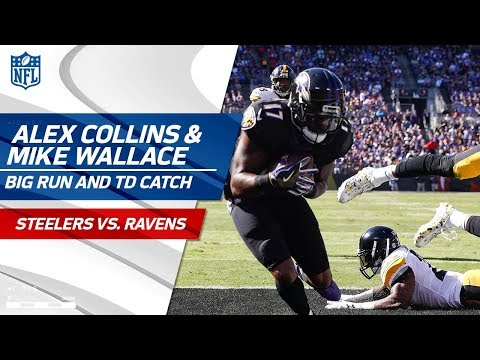 Video: Collins' Massive Run Sets Up Flacco's TD Pass to Wallace! | Steelers vs. Ravens | NFL Wk 4