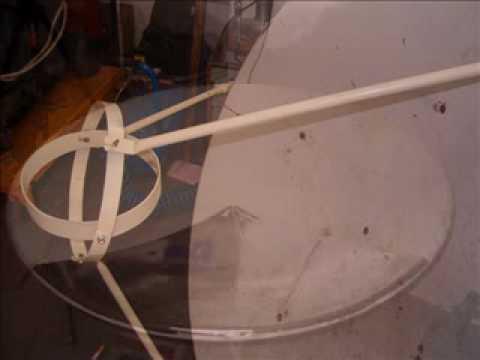 Sunčani šporet od SAT antene 1,2m