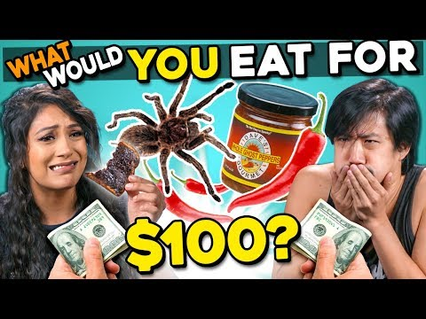 What Will You Eat For $100?   People Vs. Food