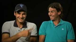 Roger Federer and Rafael Nadal charity matches live on TennisTV.com in December 2010. These are the promo outtakes. Visit http://tnn.is/WatchLive for official ...