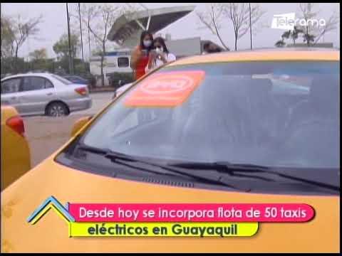 Desde hoy se incorpora flota de 50 taxis eléctricos en Guayaquil