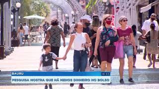 Pesquisa aponta que 42% dos brasileiros estão com menos dinheiro no bolso