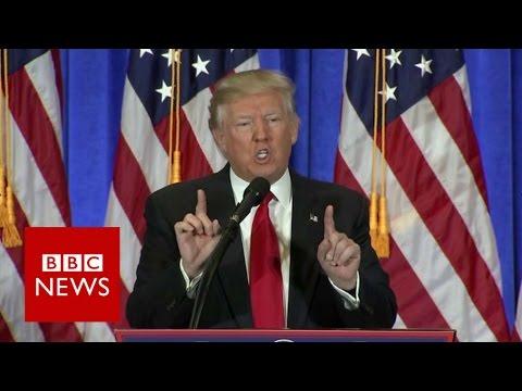 Angry Trump blasts 'fake news disgrace' - BBC News