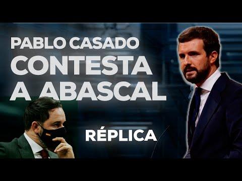 Pablo Casado contesta a Abascal en el debate de la...