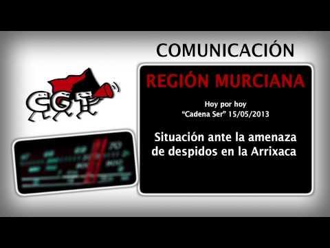 Video: CGT contra los despidos en la Arrixaca en Hoy por Hoy de la cadena ser