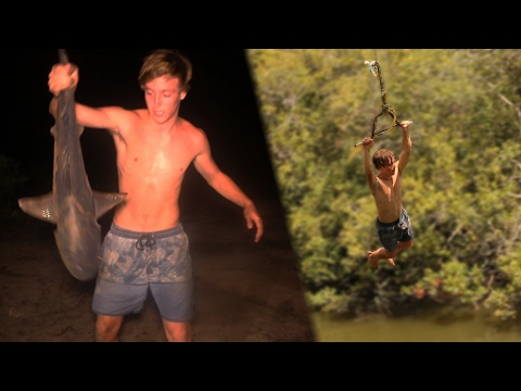 BULLSHARK Catch n Cook!!! - caught at popular Rope Swing!