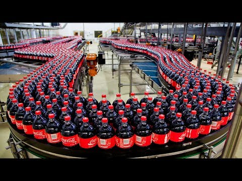 Amazing coca cola manufacturing line - Inside the soft drink factory - Filling Machine