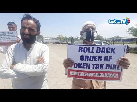 Transporters hold protest