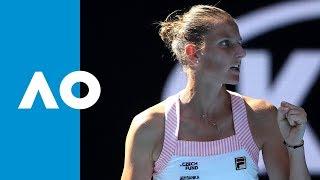 Garbiñe Muguruza v Karolina Pliskova match highlights (4R) | Australian Open 2019