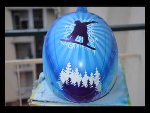 Step by step aerografia su casco da snowboard SB design