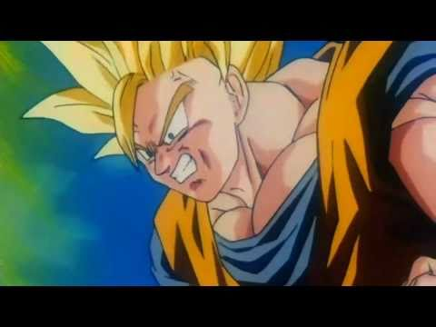Dragonball Z - Goku Turns Super Saiyan 3 First Time {HD}