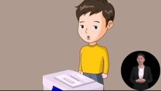 제19대 대통령선거 발달장애인을 위한 투표절차안내 애니메이션(사전투표)  영상 캡쳐화면