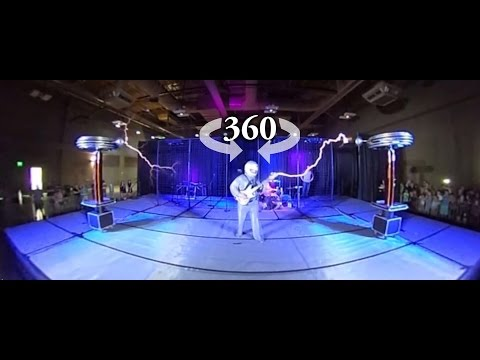 A 360 Degree Video of ArcAttack Turning Electricity Into Music Using Tesla Coils at Maker Faire