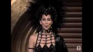 Cher Presents Best Supporting Actor Oscar 1986