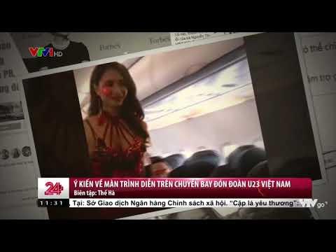 Hình Ảnh Phản Cảm Ăn Mặc Bikini Đón Tiếp U23 Việt Nam Của Vietjet - Thời lượng: 76 giây.