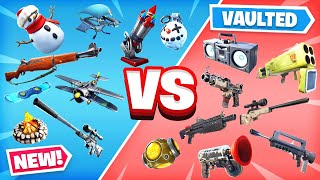 NEW vs VAULTED Season 7 ITEMS in Fortnite!