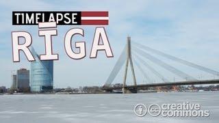 Daugava River Skyline (TIME LAPSE) - Riga, Latvia