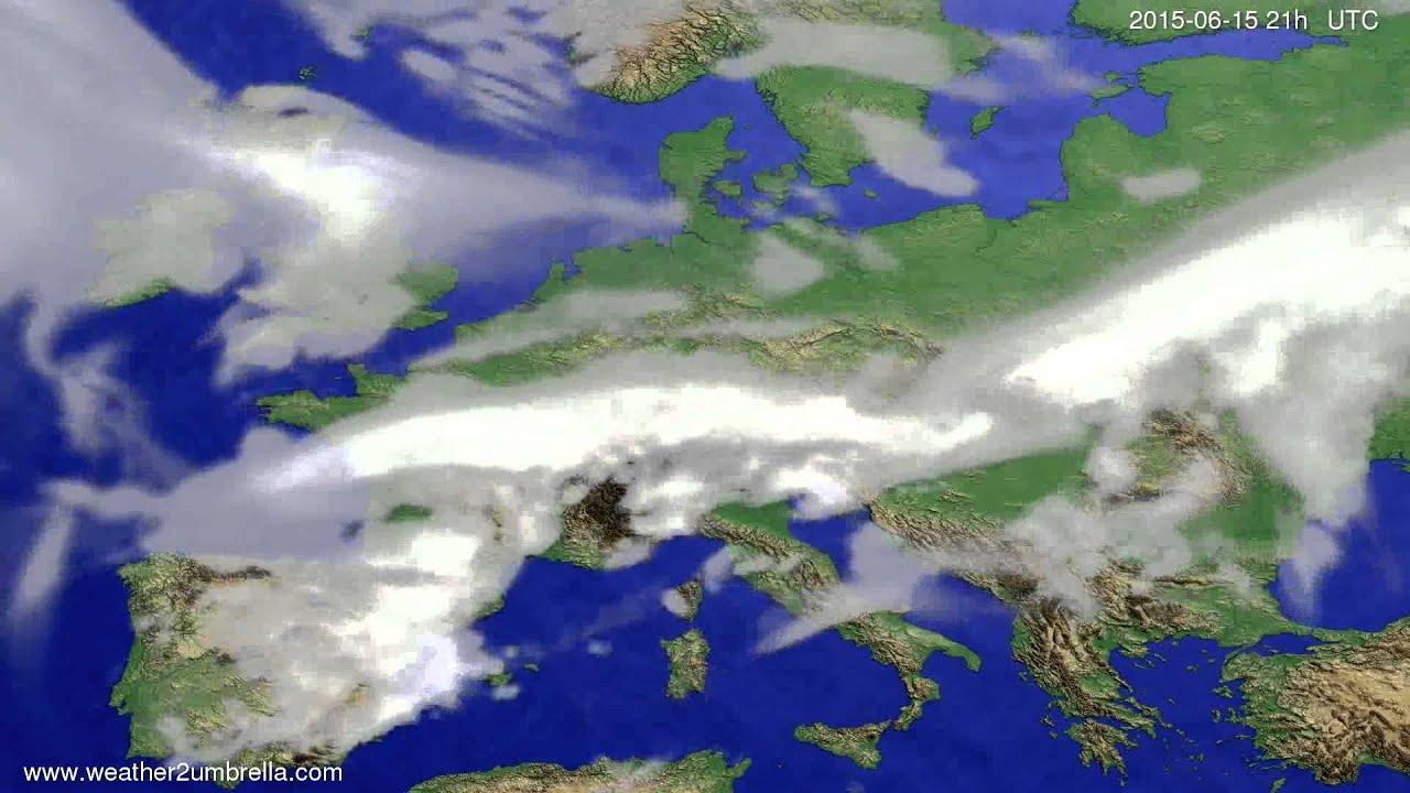 Cloud forecast Europe 2015-06-13