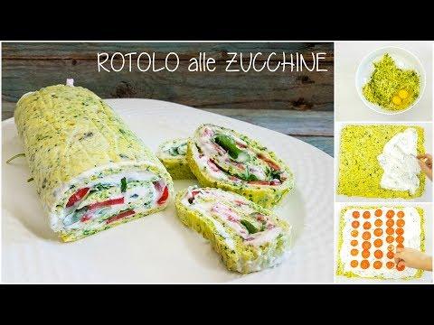rotolino di zucchine con formaggio pomodoro e rucola - ricetta