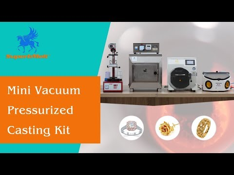 Mini vacuum jewelry casting kit, gold/platinum/silver jewellery casting machine - SuperbMelt