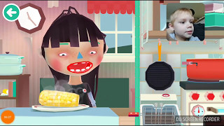 Playing Toca Kitchen 2 with my 4yr old.