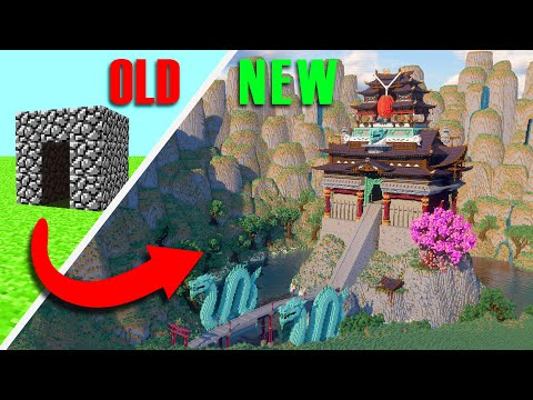 Upgrading A House Through EVERY Update In Minecraft | Japanese Castle