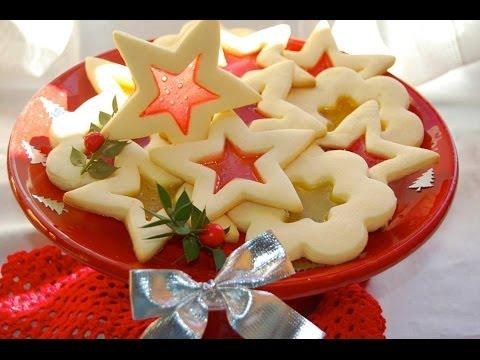 STELLINE DI BISCOTTO ♥ Biscotti effetto vetro, bellissimi per Natale ♥ VIDEORICETTA
