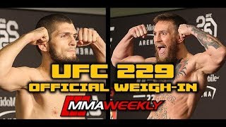 Download Video UFC 229 Official Weigh-In: Khabib Nurmagomedov vs. Conor McGregor (FULL Weigh-in) MP3 3GP MP4