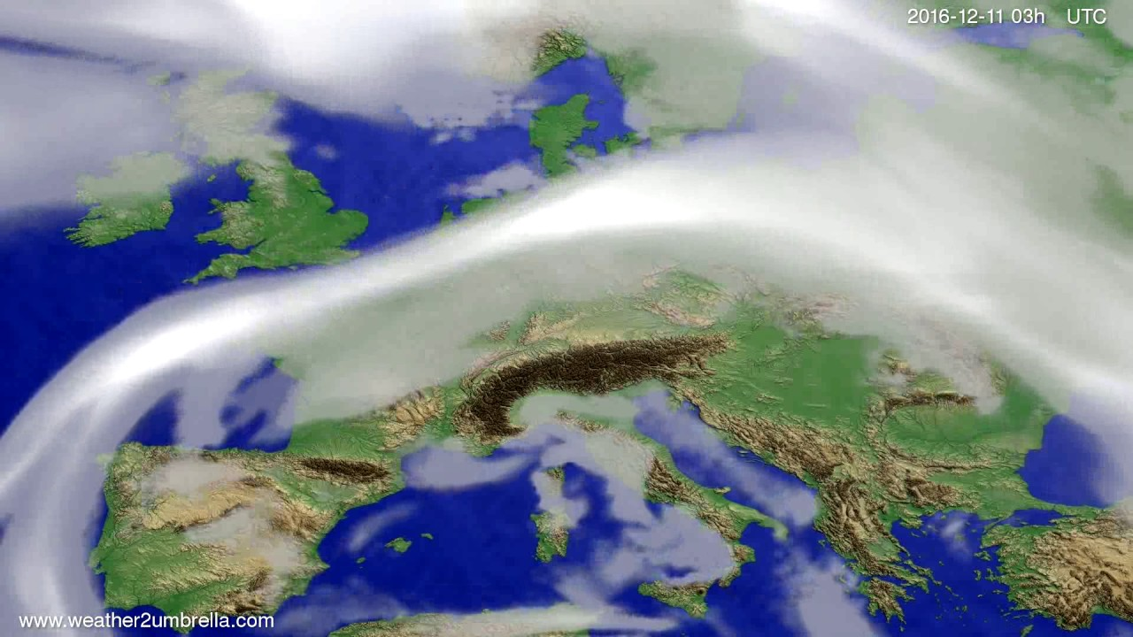 Cloud forecast Europe 2016-12-08