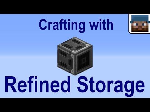 Minecraft Talk 26 - Crafting with Refined Storage