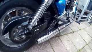 10. open pipes and air box mod on Triumph America
