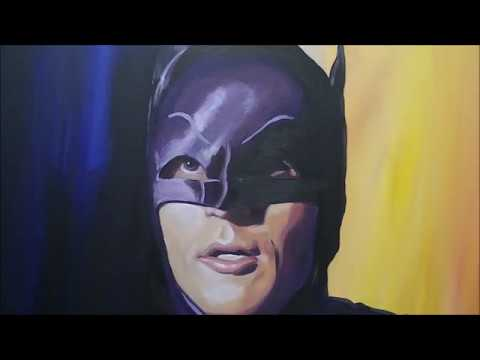 Adam West - Batman 66 Time-lapse Painting